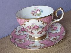 Vintage 1960's Anniversary gift for Wife pink tea by ShoponSherman