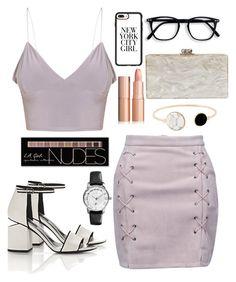 """""""Untitled #12"""" by lejlahurtic ❤ liked on Polyvore featuring WithChic, Alexander Wang, Edie Parker, Casetify and Charlotte Russe"""