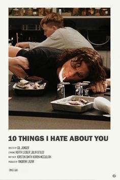10 things I hate about you alternative poster - made one of those alt posters for my fave movie. style recreation or andrew sebastian kwan - Iconic Movie Posters, Minimal Movie Posters, Minimal Poster, Cinema Posters, Iconic Movies, Film Posters, Rock Posters, Film Poster Design, Poster Designs