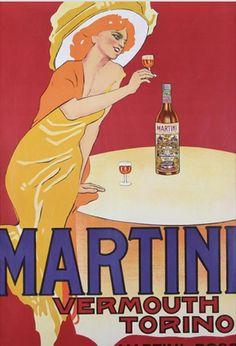 Poster by Marcello Dudovich (1878-1962), 1959, Martini & Rossi. (I)