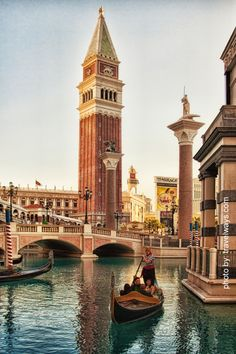 Gondola ride at Venetian Hotel Las Vegas, an Italian experience in the desert of Nevada