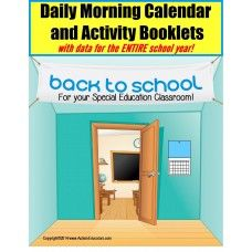 This activity contains material for 39 full weeks of school. With up to 30 different skills to practice on a daily basis complete with an area to record data, your students will see the days of the week, what comes before and after, how to record the date in a calendar, review math, reading and writing skills and much, much more! - See more at: http://autismeducators.com/Autism-Calendar-Activity-Booklets-for-Special-Education-AutismEducators#sthash.NejLSi0Z.dpuf