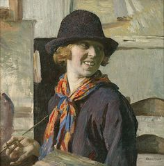 Laura Knight, 1913, painted her self portrait