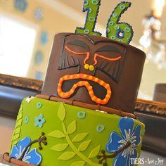 Hawaiian Luau Birthday Cake by Beverly's Bakery