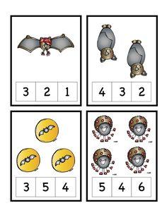 Bats & Spiders Number Cards ~ Preschool Printables