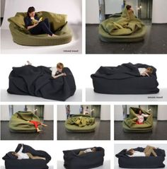 The human 'dog bed' Where can I get me one of these? Bean Bag Couch, Brunswick House, Cozy Couch, Cool Couches, Good Sleep, Dog Bed, My Dream Home, Cool Furniture, Sweet Home