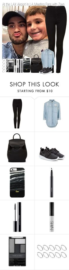 """""""At the LAX Airport Meeting Fans with Zayn"""" by elise-22 ❤ liked on Polyvore featuring Topshop, Alexander Wang, NIKE, MAC Cosmetics, shu uemura, NARS Cosmetics, Wet n Wild, ASOS, fans and zaynmalik"""