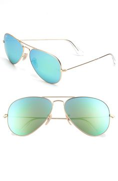 Ray-Ban 'Original Aviator' 58mm Sunglasses | Nordstrom - Green Flash