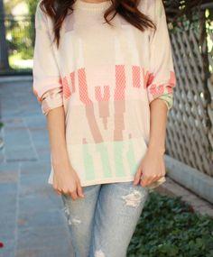 Beauty + Fashion Blogger Teni Panosian of MissMaven.com loves Gypsy05's Amber High-Low Crewneck Sweater