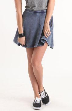<3 this denim circle skirt