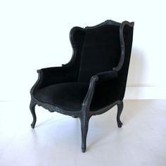 Wingback Chair in Black
