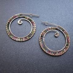 wire wrapped earrings by francis #wirejewelry