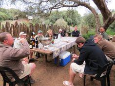 Wine tasting on the 60 day Game Ranger course at Shamwari