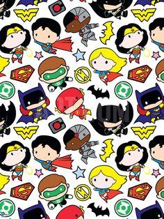 Justice League Chibi Design Poster at Art.com