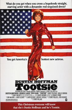 Tootsie, 1982.  Because only Dustin Hoffman is allowed to drees as a woman and still be cool.
