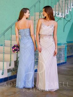 Flared Bridesmaid Dresses, Strapless Dress Formal, Wedding Dresses, Column Dress, Beaded Gown, Unique Dresses, Adrianna Papell, Wedding Bridesmaids, Dress Collection