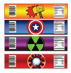 Superhero Water Bottle Labels Superhero by DreamyPartyPrintable ...