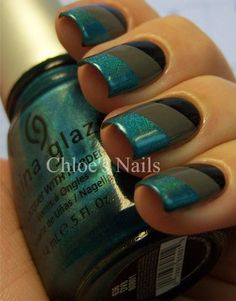 Scotch Tape Mani - like this idea a lot, looks like it could be easy!