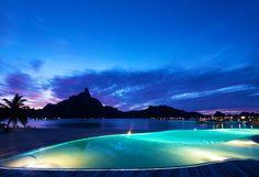 Le Meridien, Bora Bora at night