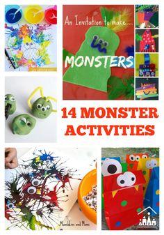 14 Monster Activities for Kids via @craftykidsathome