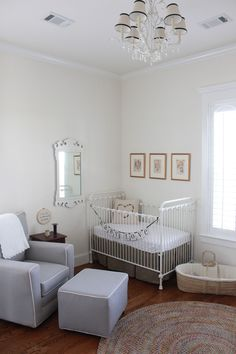 Love vintage accents in this sweet nursery!
