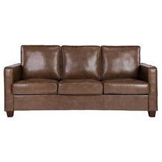 Square Arm Bonded Leather Sofa - Threshold™ : Target