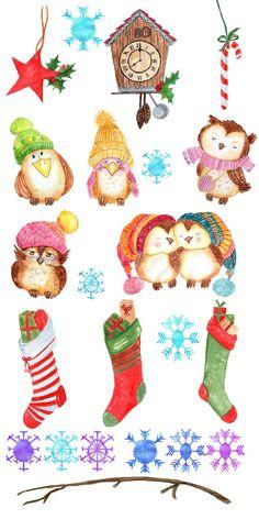 christmas socks watercolour clipart winter gift diy woolen rh pinterest com christmas holiday clipart free christmas holiday clipart