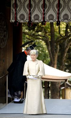 Posted on April 3, 2014 by HatQueen...Emperor Akihito, Empress Michiko and Crown Prince Naruhito visited the Meiji Jingu Shrine in Tokyo yesterday to commemorate the 100th anniversary of death of Empress Shoken (1849-1914).