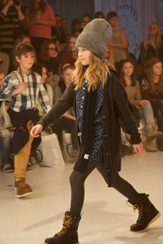 Yet another huge beanie hat at CIFF Kids winter 2013 kids fashion show trade fair preview.