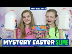 Mystery Surprise Easter Slime Challenge ~ Jacy and Kacy Karina Garcia, Cooking With Kids, Slime, Mystery, Challenges, Easter Ideas, Youtube, Fun, Channel