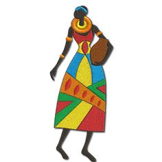 African Ladies - African Lady 5 - AFR 5 - Machine Embroidery design