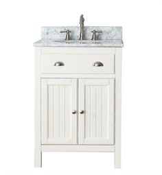 Pictures In Gallery Avanity HAMILTON V FW Hamilton Bathroom Vanity in French White finish