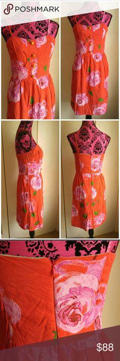 Vintage floral silk sun dress small Vintage floral silk dress size small   More info soon! Vintage Dresses Midi