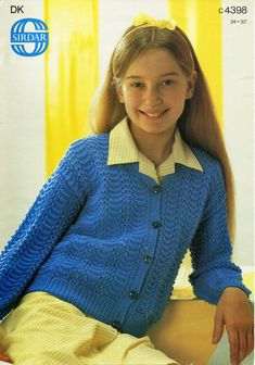 Children and Young Lacey Knitting Patterns, Baby Knitting Free, Baby Cardigan Knitting Pattern Free, Cardigan Pattern, Knit Patterns, Lace Cardigan, Lace Jacket, V Neck Cardigan, Knit Vest