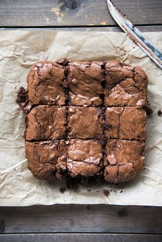 Thick, Fudgy, Chewy, Ultimate Brownies have intense chocolate flavor and tissue-thin crinkly crust. Your search for the ultimate brownie ends here! Tasty Brownie Recipe, Ultimate Brownie Recipe, Brownie Recipes, Easy Desserts, Delicious Desserts, Dessert Recipes, Yummy Food, Small Desserts, Chewy Brownies