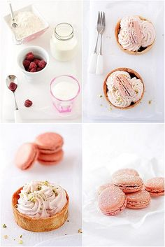 Raspberry Mousse Tartelettes & Pink Macarons
