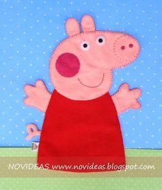 Novideas: Sucesso por aqui... Fantoche Peppa Pig