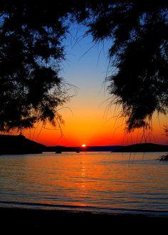 Almirida sunset on the Greek island of Crete_ Greece