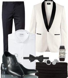 7e1763f46faa The white tuxedo jacket black silhouette fit trouser combo is brilliant.  Rena Kyrimi · British Men Style