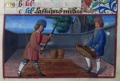 The Labours of the Months, August   Book of Hours  Brotherton Collection MS 8 University of Leeds