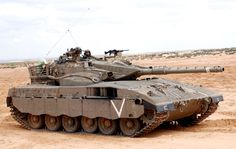 Merkava Mk 2 during training