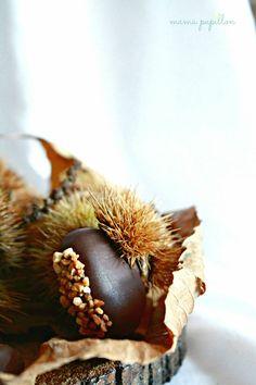Castañas de chocolate y almendra