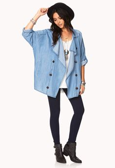 Blue Jeans Babe Chambray Jacket | FOREVER21 - 2000093147