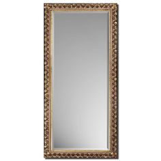 Traditional Antique Gold Beveled Mirror in Leaner Style