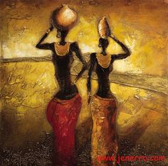 African woman oil paintings on canvas