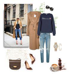 """Camel coat"" by murenochek ❤ liked on Polyvore featuring Barbara Casasola, Christian Louboutin, Levi's, Rolex, Ileana Makri, Bottega Veneta, La Maison Du Chocolat, jeans, LeopardPrint and coat"
