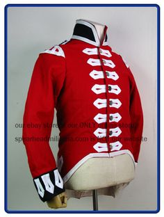 Napoleonic War British Infantry Red Wool Regimental Coat S-XXL Army Uniform, Napoleonic Wars, Military History, Motorcycle Jacket, British, Wool, Military Coats, Red Coats, Jackets