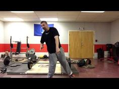 """How to """"Stay Back Behind the Ball""""   Shot Put and Discus Drills   www.PrimalATC.com"""