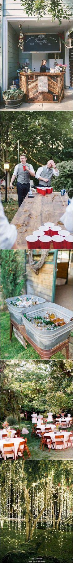 Intimate Backyard Outdoor Wedding Decor Ideas #backyardwedding #outdoorwedding #countrywedding #weddingdecor ❤️http://www.deerpearlflowers.com/intimate-backyard-outdoor-wedding-ideas/