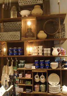 New Anthro in Vancouver.  Love the display. Now wishing my kitchen cabinets were more for display.